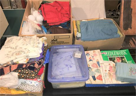 Large Variety of Quilting, Sewing, and Upholstery Fabrics