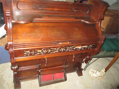 1880 Loring & Blake Parlor Restored Pump Pedal Organ 61 Key