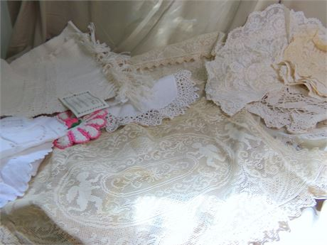 Doily's and Table Runner