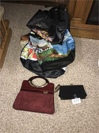 Handbags and Misc Bags Lot