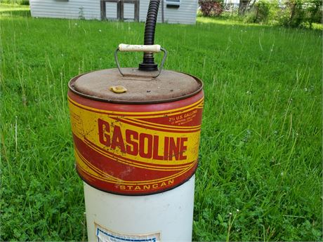 Vintage Stancan 2.5 Gallon Metal Gas Can