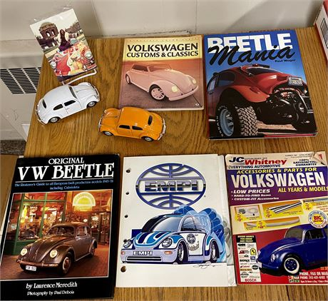 """""""Beetle"""" Mania - Hard & Soft Cover Books/Magazines, Die Cast Beetle Cars, &"""