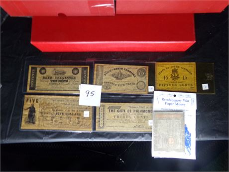 Copies of of old currency