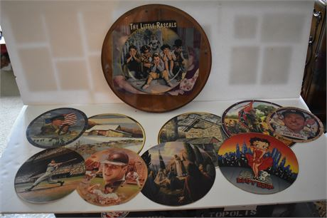 Wood Circular frame with cutouts-Little Rascals, Confederate General, Betty Boop
