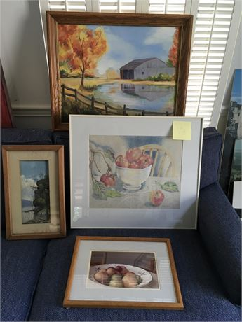 Framed Pastel Still Life Signed by Local Artist and More