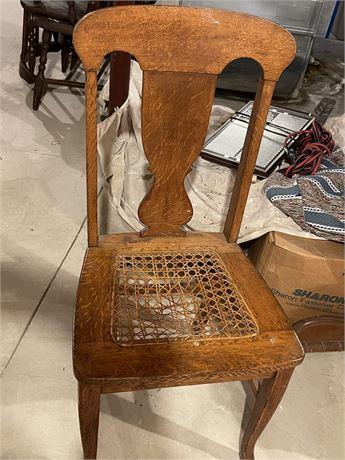Antique Tiger Oak Chair