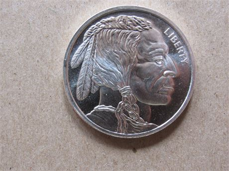 Indian Head 1 Troy Oz  Fine Silver Coin