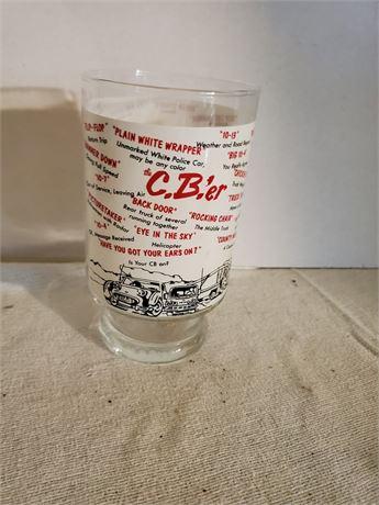 Vintage C.B.'er Glass TRUCKER