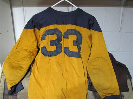 "Rare 1940's Champion "" Running Man"" Label Football Jersey"