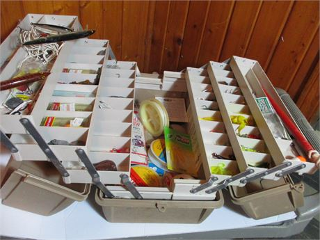 Flambeau 1999 Complete Multi Drawer Fishing Tackle Box Lures Filled