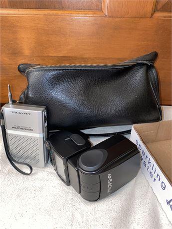 Pentax Camera Flash, Realistic Weather Radio, Camera Bag, Accessory Cords
