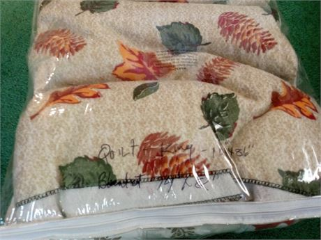 King Comforter / Blanket - Autumn Theme