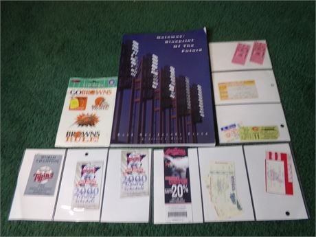 Sports ticket stubs and various