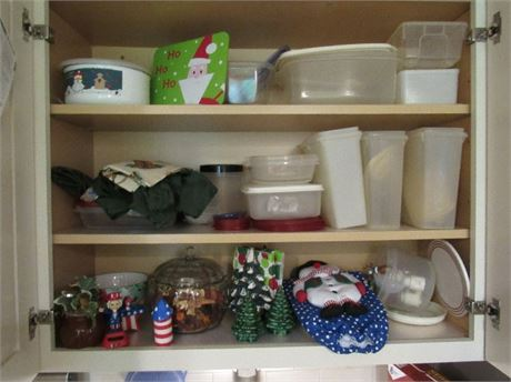 Cupboard Clean Out - Food Storage and Holiday Decor