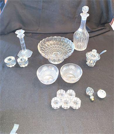 Assorted Glass Hostess Pieces