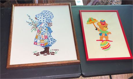 Embroidery and Needlepoint Children's Framed Artwork
