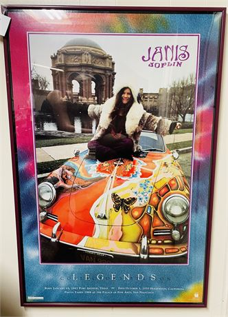 Rare Vintage Janis Joplin Framed Poster