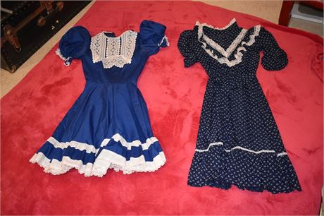 2 Blue Country/Square Dance style dresses-Teen/adult size