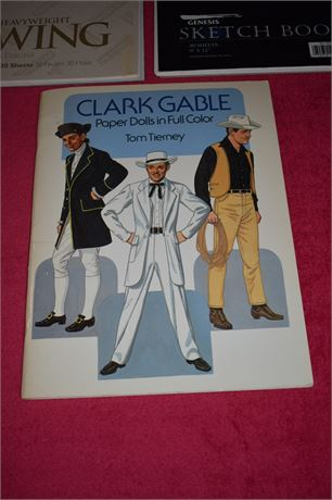 Clark Gable Paper Doll book, Disney Hunchback book and others