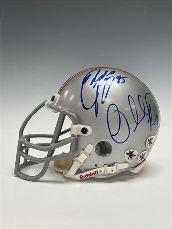 Ohio State Autographed Mini-Helmet