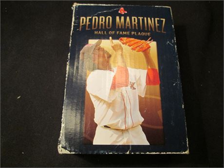Vintage Pedro martinez Hall Of fame Collector Plaque