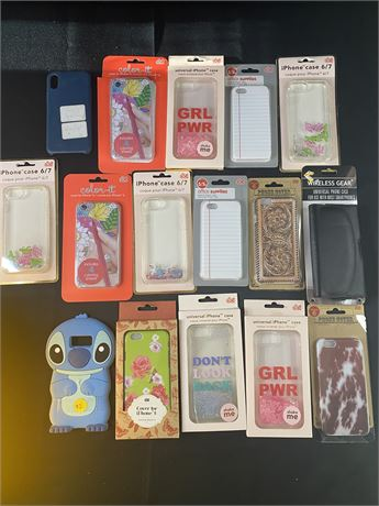 Lot of iPhone cases. 16 Cases. Sizes vary from 5/s-8