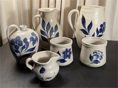 Six Pieces of Willamsburg Pottery