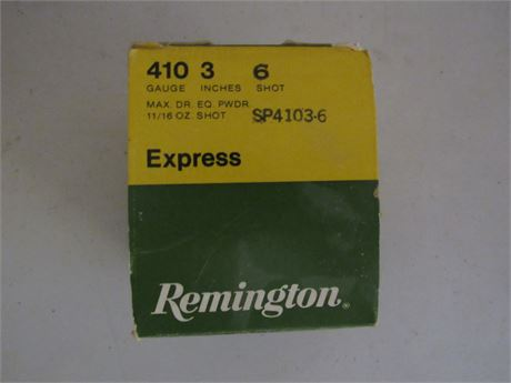 Remington 410 Shotgun Shells 20 in box