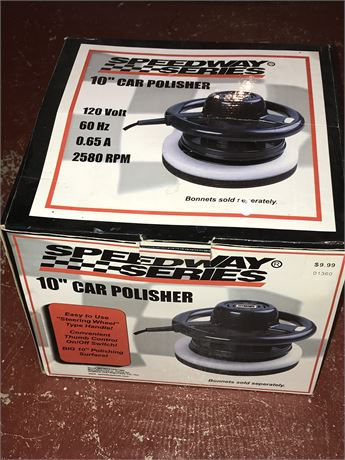 """Speedway Series 10"""" Car Polisher (never used}"""