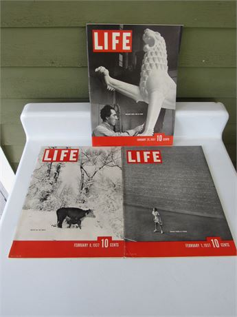 1937 Life Magazines: Great Ads