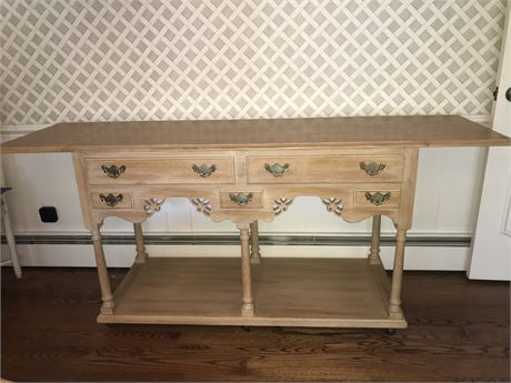 Hickory Manufacturing Factory Buffet with Drop Leaves