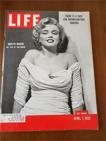 Vintage Marilyn Monroe 1952 Life Magazine First Appearance