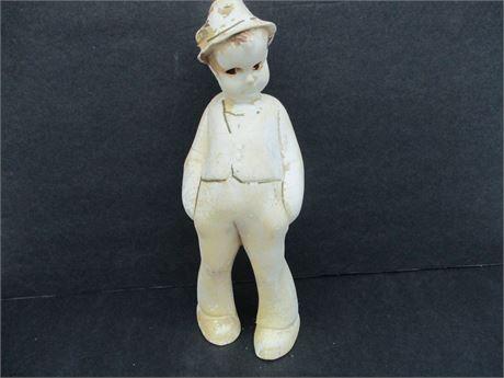 """Rare Robia # 345 9"""" Roman Art 1930's Boy Chalkware Statue"""