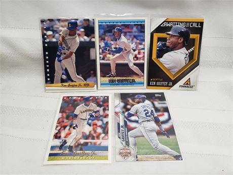 Ken Griffey Jr Lot of 5 cards