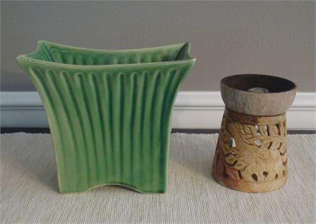 Marietta Modern Vase & Ceramic Incense Burner