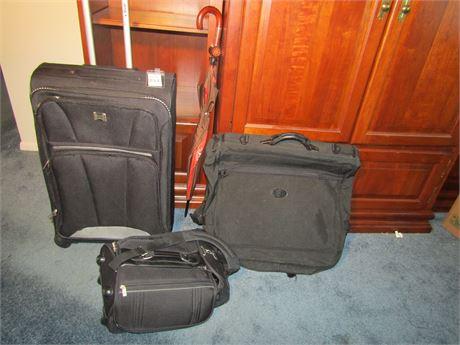 Rolling Luggage, Garment Bag, Carry-On Bag, Umbrellas