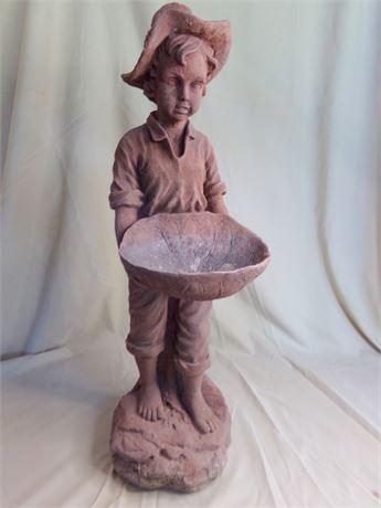 Boy holding a Bowl Lawn Decoration