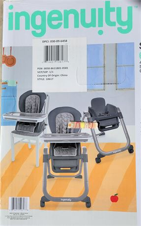 4-in-1 Convertible High Chair & Toys