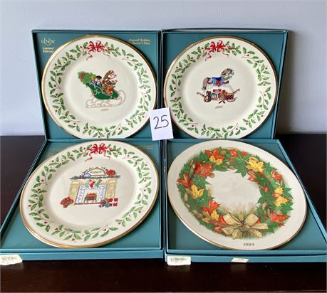 Lenox Limited Edition Annual Holiday Collector's Plates 1991-1994