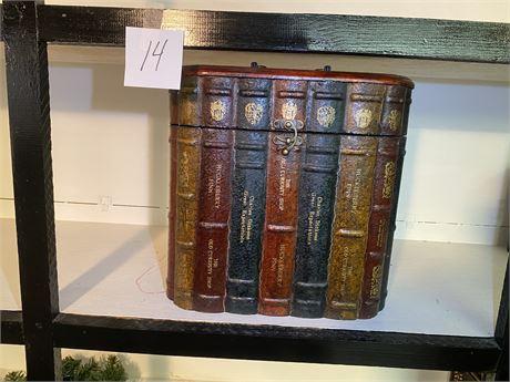 Decorative Three Bottle Holder with Book Motif