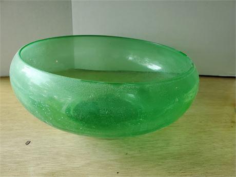 Blenko Green Glass Bowl