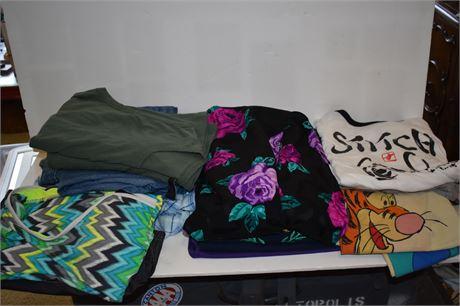 Women's Clothing clean out/ Disney world rain panchos/Red Hat shirt