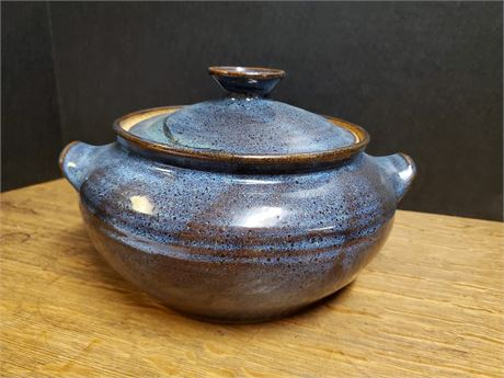 Art Pottery Covered Casserole Signed