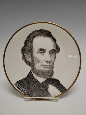 Prussia Royal Rudolstadt Abraham Lincoln Cabinet Plate