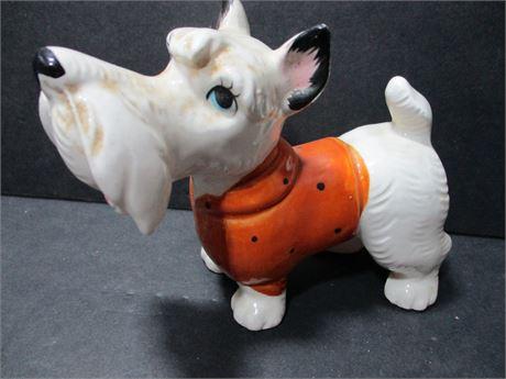 """Vintage Hand Painted Fine Porcelain Japan Scptty 5"""" Dog"""