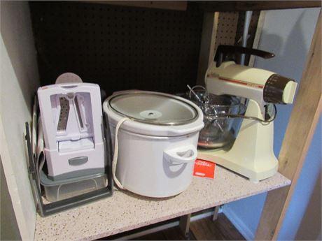 Stand Mixer, Crock Pot, Slicer