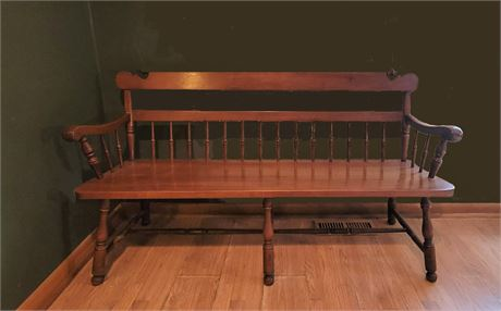 Long Spindle Back Bench