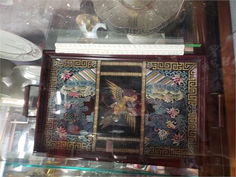 Oriental Silk Table Tray