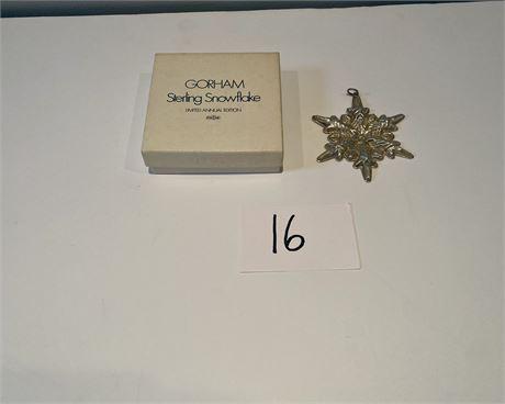 1972 Gorham Sterling Snowflake Ornament