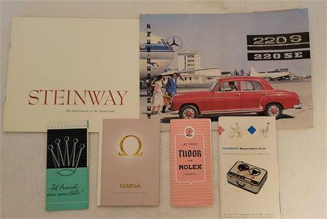 Vintage Advertising Brochures